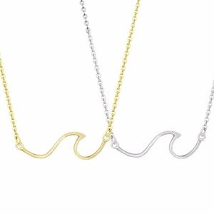 Jewelry - 4 for $25 short stainless steel wave necklace